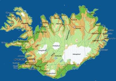 アイスランドの地図REV
