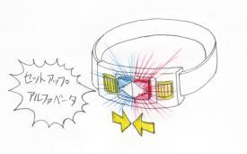 仮面ライダーイオタ変身ベルトで変身(セットアップ)