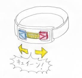 仮面ライダーイオタ変身ベルト必殺技発動準備
