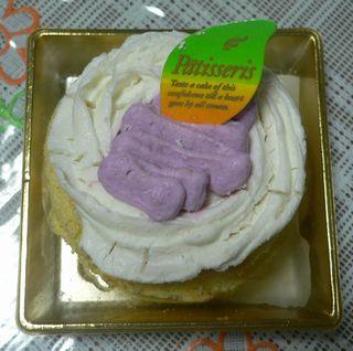 紫芋と豆乳のケーキ