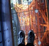 東京タワーの展望台。