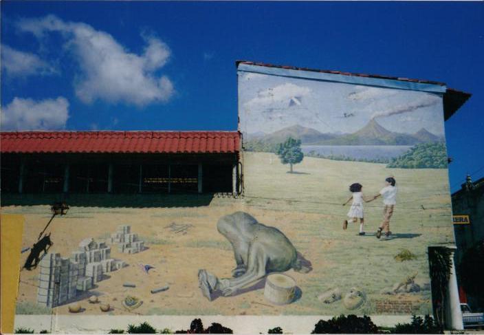 ニカラグア・シュールな壁画