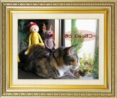 ねこ 猫 クリスマス祭り14すなふ家『タカ君がソリ?』