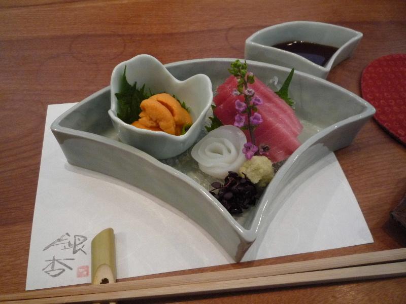 18.手打ち蕎麦 銀杏 (お造り盛り合せ)