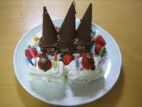 チョコレート城のケーキ