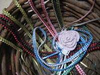 リボンをハワイアン編み