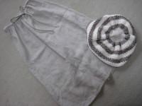 麻のスカート