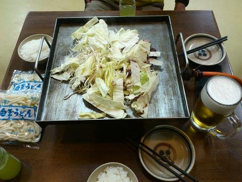 野菜とお肉投入!