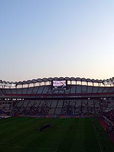 夕暮れの鹿島サッカースタジアム