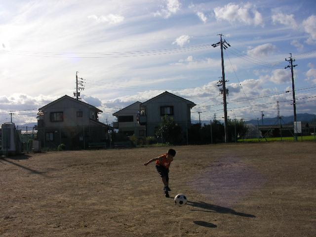 サッカーの練習?