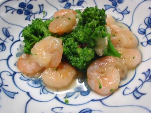 ブロッコリーと海老の炒め物トロリあんかけ