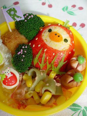 苺になったキイロイトリのお弁当