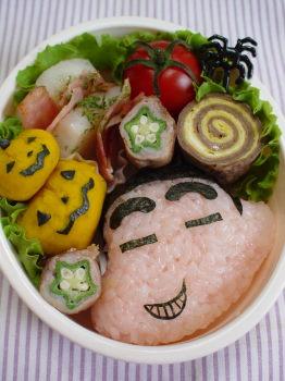 ハロウィン*ニシシクレヨンしんちゃんのお弁当