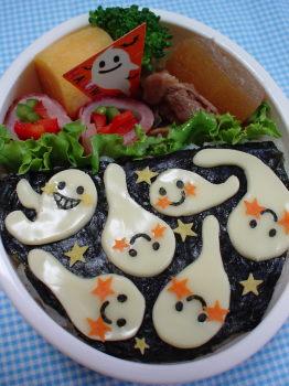 ハロウィン*ニシシおばけちゃんたちのお弁当