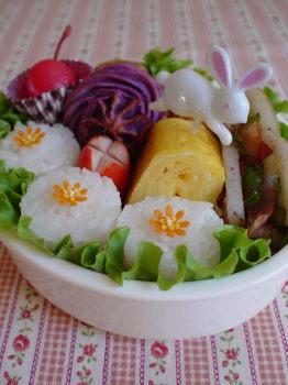 小花のお弁当