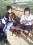 森の音楽を奏でる二人組み