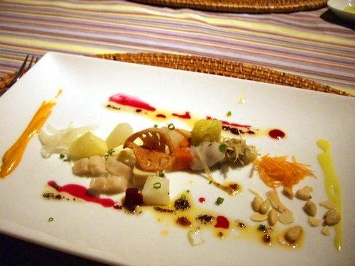 野菜の出汁で煮た高野豆腐・根菜類他