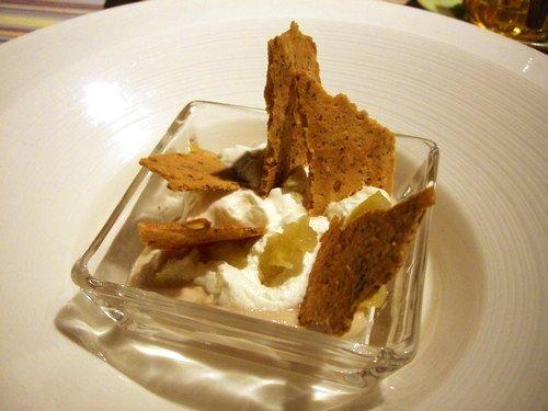 フランス栗のクリーム・ヨーグルトのシャンティー・クルミと胡麻のクッキー・栗のシロップ煮