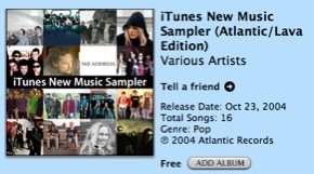 iTunes New Music Sampler (Atlantic/Lava Edition)