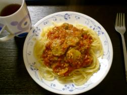 ナスとトマトのパスタレシピへ