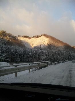 雪山きれいだな。