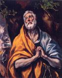 エル・グレコ「悔悛の聖ペテロ」