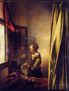 フェルメール「窓辺で手紙を読む若い女」