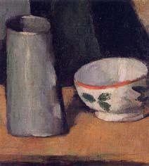 ポール・セザンヌ「鉢と牛乳入れ」