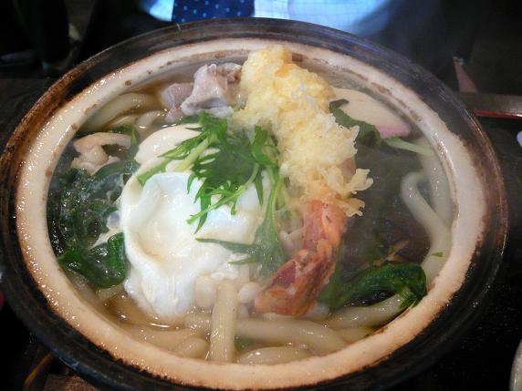 海老天鍋焼き