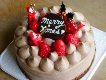 チョコクリームのクリスマスケーキ5号
