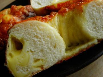 チーズベーグル 断面