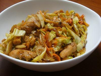 110314カレー味の野菜炒め