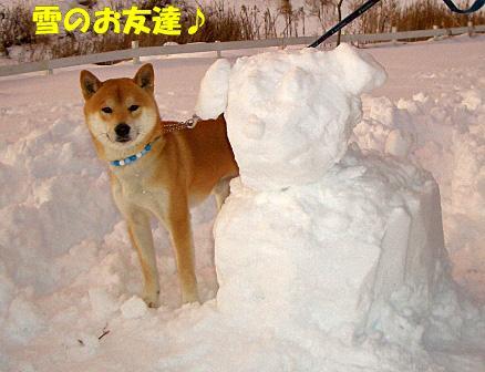 雪のお友達