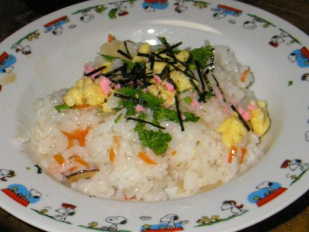 菜の花ちらし寿司