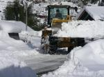 除雪作業中の写真