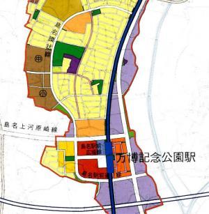 島名・福田坪土地利用計画図