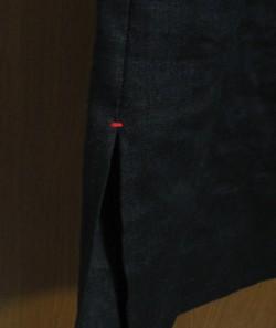 ブラックリネンワンピ4