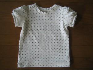ドットパフスリーブTシャツ
