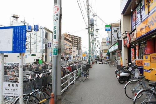 自転車の 津田沼 自転車置き場 : ここは鉄道連隊の演習線跡地 ...