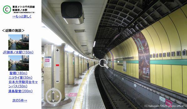 地下鉄駅360°ビュー