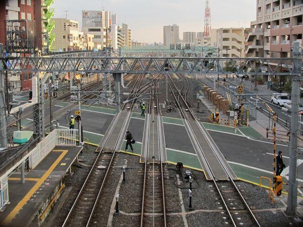 竹ノ塚駅南側にある伊勢崎線第37号踏切