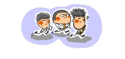 3人のヨイショ渡り鳥