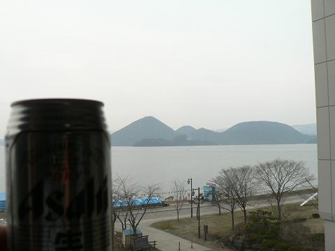 洞爺湖で一杯