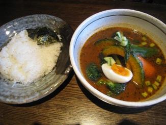 季節野菜のスープカレー 980円
