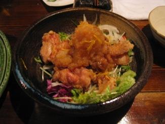 鶏唐の柚子おろしポン酢