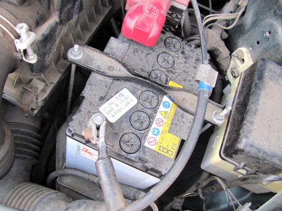 古いバッテリー