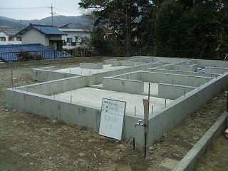 榎本邸 基礎完成全景2