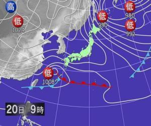 06年1月20日の予想天気図
