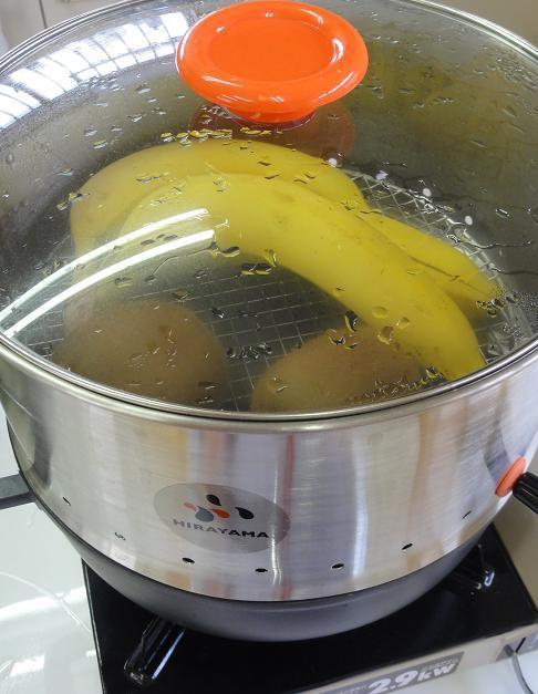 バナナキウイ蒸し1
