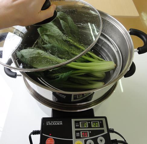 小松菜蒸し